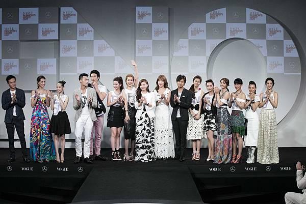 《VOGUE全球購物夜》活動大使與眾星藝人,為台灣時尚圈最強風雲盛會站台