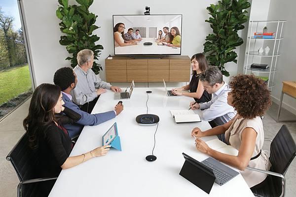 圖一:羅技ConferenceCam GROUP最佳中大型企業視訊會議解決方案