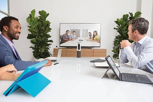 圖二:羅技ConferenceCam Connect專屬中小型企業視訊會議解決方案