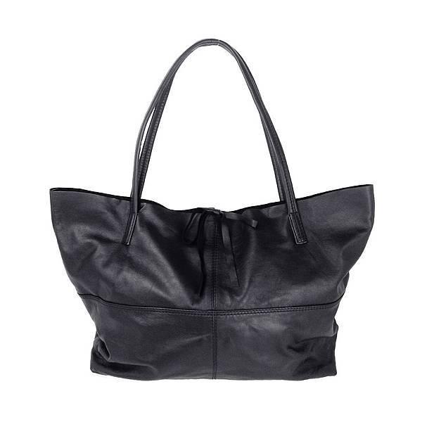 圖8_aBoutmi 氣質黑輕軟羊皮托特包,建議售價NT6,980