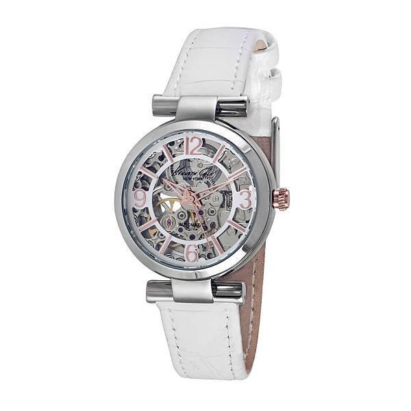 KENNETH COLE氣質純白機械錶 NT6,480 (KC10022296)