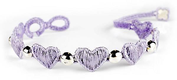 2. CRUCIANI心願 編織刺繡手鍊 (紫),建議售價NTD 6,000