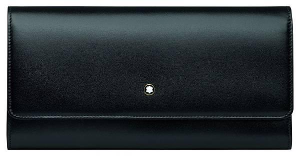114530 萬寶龍Meisterstück大師傑作經典系列黑色掀蓋式女用長夾,NT$12,600