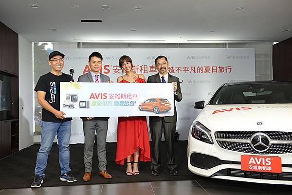 【新聞圖說一】AVIS安維斯租車尊榮車隊再添運動跑格A180 攜手GoPro豔夏出發