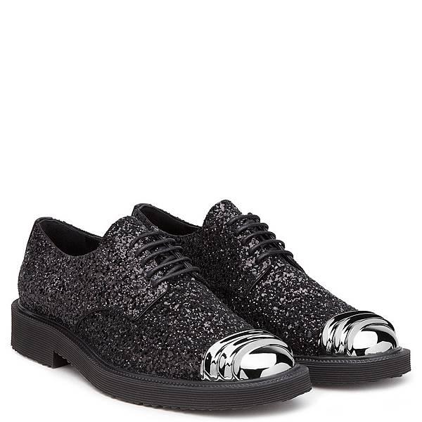 Giuseppe Zanotti Design金屬鞋頭星砂亮片男士孟克鞋_$33,800