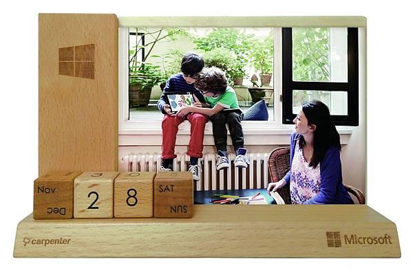Windows X 木匠兄妹原木相框