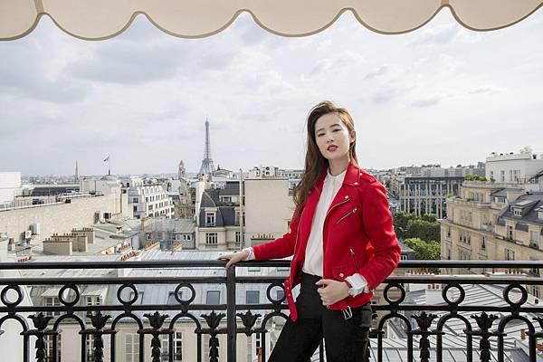 圖2. 天梭表全球形象大使劉亦菲現身法國巴黎