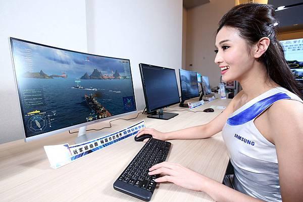 三星玩家級曲面螢幕 稱霸遊戲視界