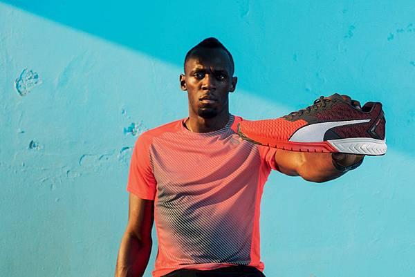 全新PUMA IGNITE Dual為世界第一飛人Usain Bolt於奧運賽前的練跑鞋