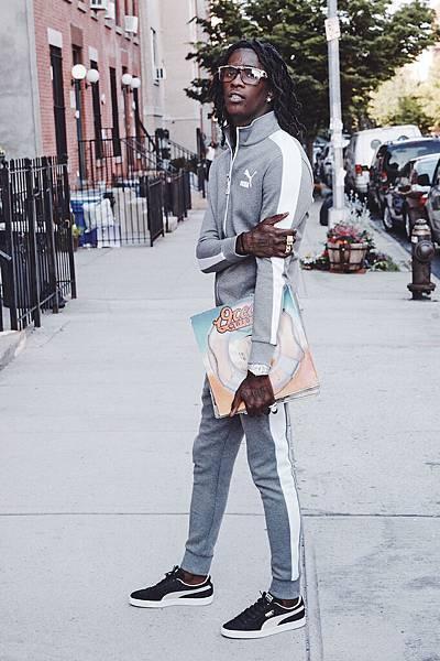 嘻哈饒舌歌手Young Thug傾情演繹T7 運動外套及Suede經典鞋款系列