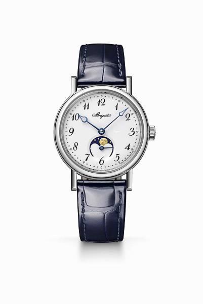 Classique Phase de Lune Dame 9088月相腕錶白K金款,建議售價NT$925,000
