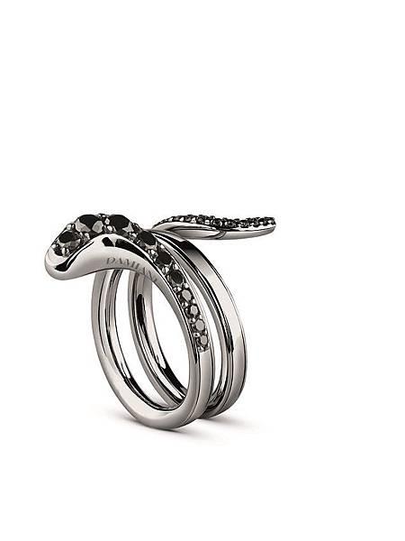 12. EDEN 蛇舞1.2系列黑金鑲鑽雙圈戒指,建議售價請店洽