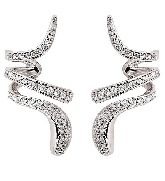 6. EDEN 蛇舞1.2系列白金鑲鑽雙圈耳環,建議售價:NTD 279,000