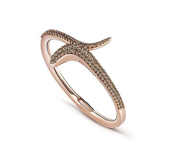 3. EDEN 蛇舞1.2系列玫瑰金鑲鑽單圈手環,建議售價請店洽