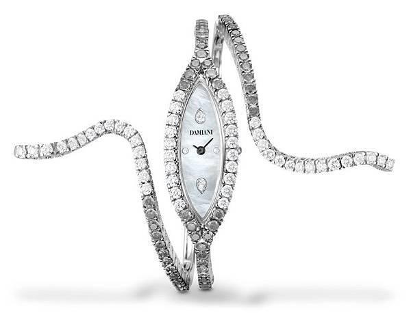 1. EDEN 蛇舞1.1系列單圈白金鑲鑽腕錶,建議售價:NTD 1,799,000