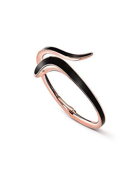 5. EDEN 蛇舞1.2系列玫瑰金黑陶瓷單圈手環,建議售價:NTD 104,000