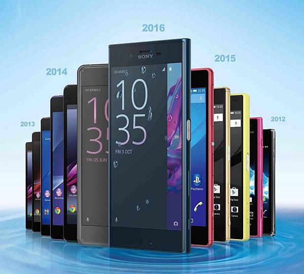 7.Sony Mobile 歡慶第21款防水手機Xperia XZ 上市,X Compact同步登場。