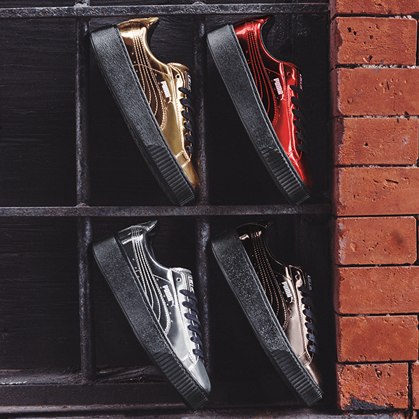 PUMA Basket Platform Metallic台灣僅發售金、銀、銅三色款式,並於限定門市販賣