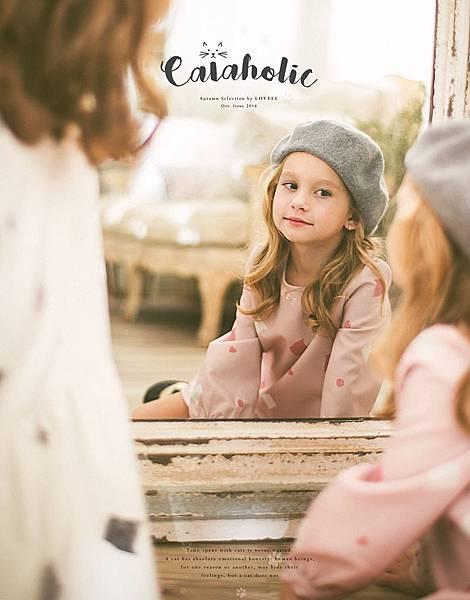 2016 LOVFEE「Sweet Cats親子系列」貓咪剪影傘擺洋裝&優雅氣質毛呢貝蕾帽_2
