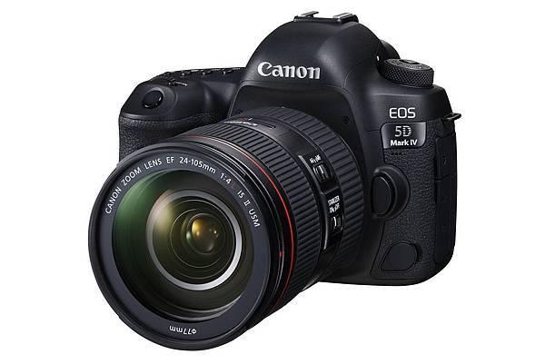 圖1 Canon 宣佈即日起搭配新上市的專業級全片幅數位單眼相機 EOS 5D Mark IV 搭配新一代全片幅標準變焦鏡頭組合 EF 24-105mm f4L IS II USM