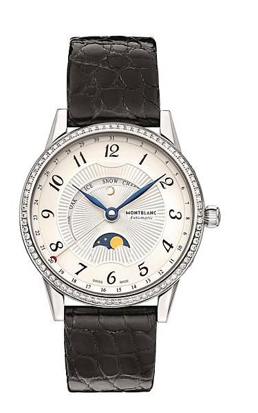 112555 萬寶龍Boheme Moongarden寶曦月苑精鋼鑲鑽腕錶,NT$205,300