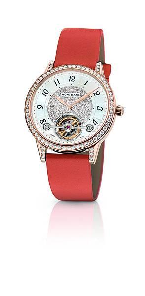 114737 萬寶龍Boheme寶曦系列外置陀飛輪超薄珠寶腕錶杏橙色錶帶款,NT$1,500,400