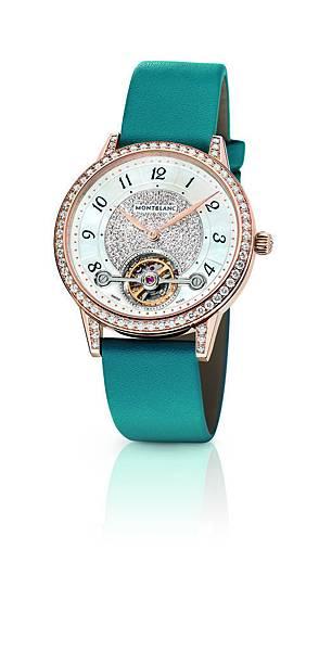 114737 萬寶龍Boheme寶曦系列外置陀飛輪超薄珠寶腕錶湛藍色錶帶款,NT$1,500,400