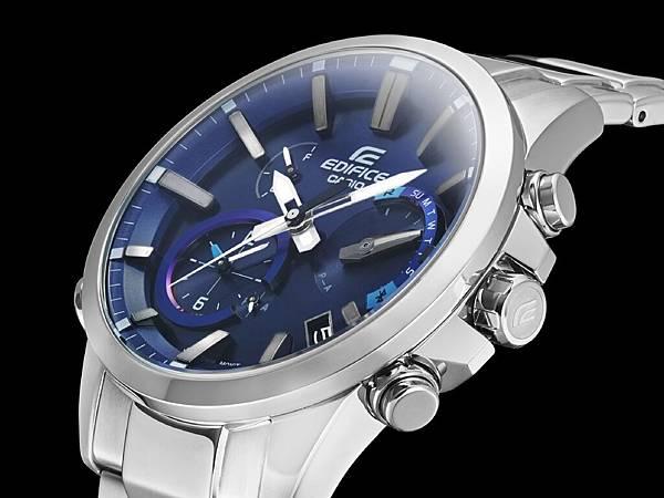 雙曲面薄型玻璃錶面 避免反光並減輕配戴厚重感