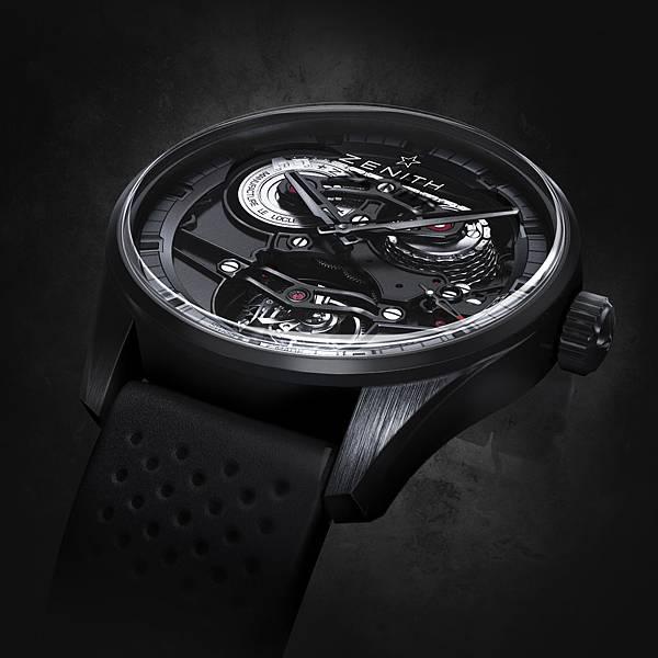 ZENITH Academy Tourbillon GFJ黑色陶瓷腕錶情境圖_04