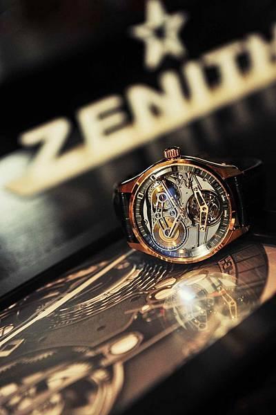 ZENITH Academy Tourbillon Georges Favre-Jacot玫瑰金腕錶_現場情境圖01