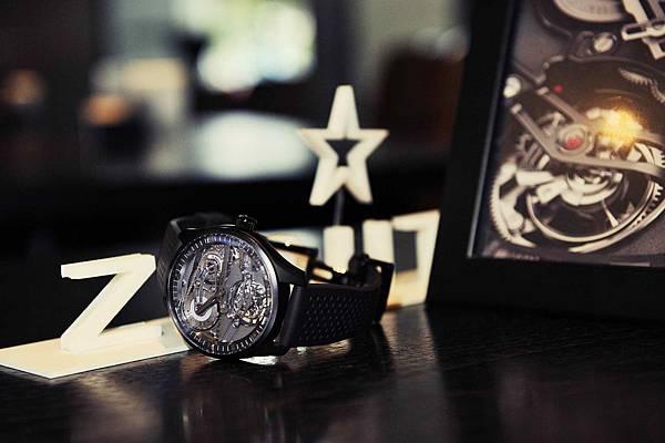 ZENITH Academy Tourbillon Georges Favre-Jacot黑色陶瓷腕錶_現場情境圖02