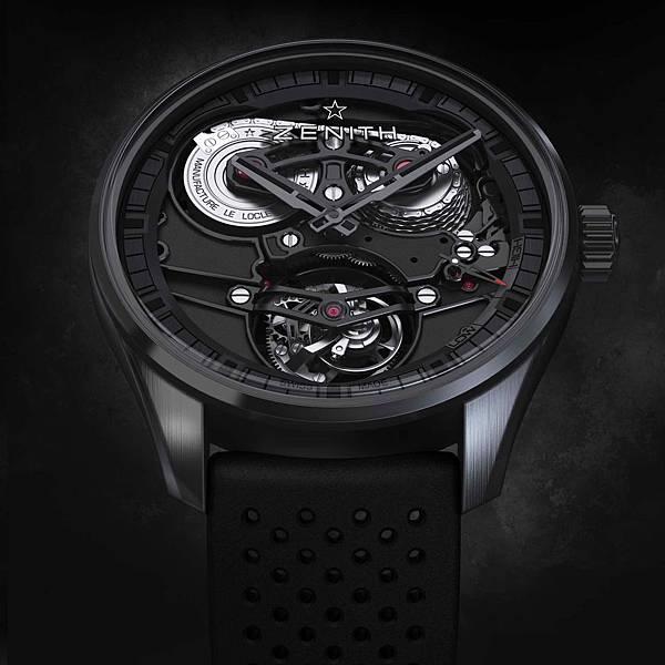 ZENITH Academy Tourbillon GFJ黑色陶瓷腕錶情境圖_03