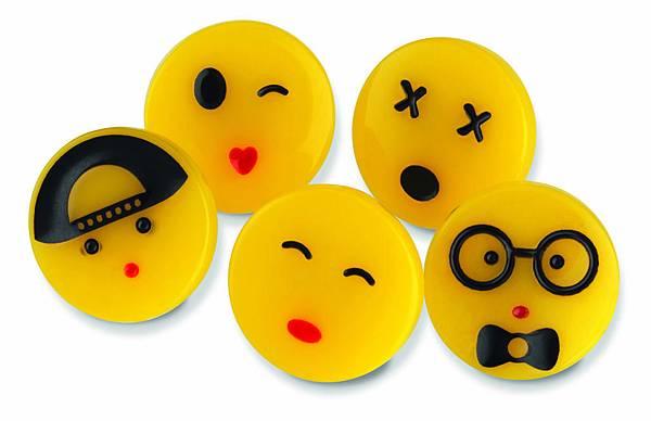 Emoji小臉扣組 (1組5個) NT$320_2