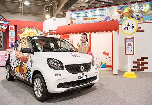 來【Hello Kitty Go Around!!歡樂嘉年華】與smart forfour合影打卡即可有機會飛往日本Hello Kitty樂園