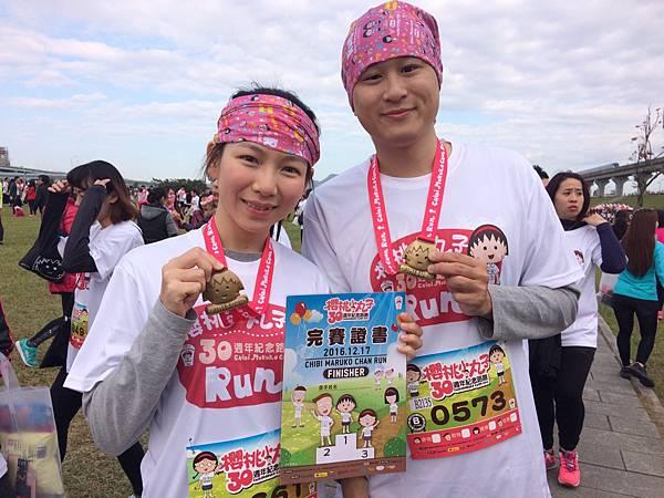 完成全程的跑者還能擁有賽後櫻桃小丸子獎牌與完賽證明留做紀念