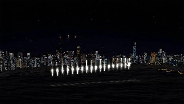 圖3. 維港上空將以煙花效果營造出向天鳴放二十響禮炮的景象,結合歡樂主題音樂,將為匯演帶來更多新鮮感。