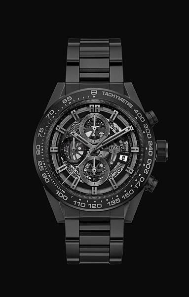 TAG Heuer Carrera HEUER-01 2017新款全黑霧面陶瓷腕錶_黑底