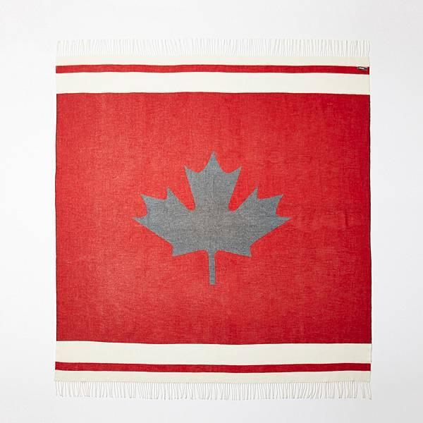 Roots加拿大楓葉毛毯_2