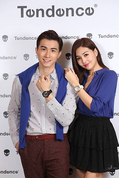 9.時尚名模林葦茹及時尚小鮮肉張瀚元共同演繹Tendence Dome圓頂系列腕錶