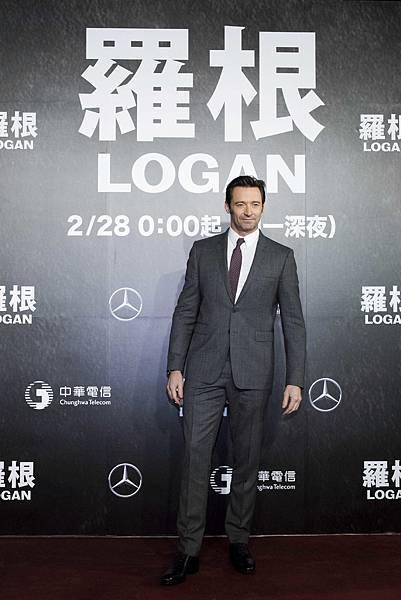 萬寶龍品牌大使休傑克曼專程抵台,出席《羅根》電影宣傳活動