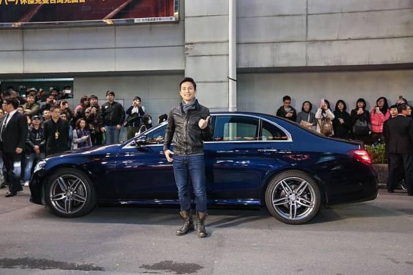 藝人孫協志與Mercedes-Benz E 250一同出現在星光大道,將現場氣氛炒到最高點。