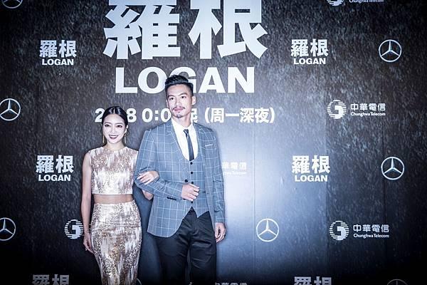 許孟哲與貝童彤一同出席《羅根》電影首映會,兩人為第一組走上紅毯的開場嘉賓。