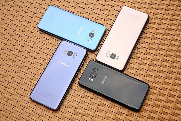 Galaxy S8+晶墨黑、冰湖藍、薰紫灰、流沙金_2
