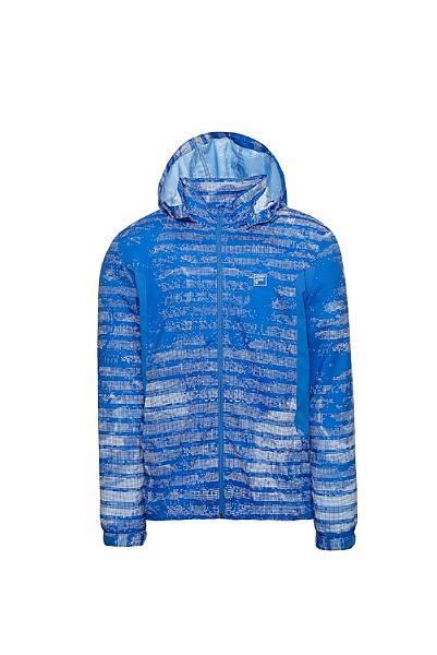 圖2.FILA迷幻旋彩風衣外套-彩耀藍(男款),售價$3,980