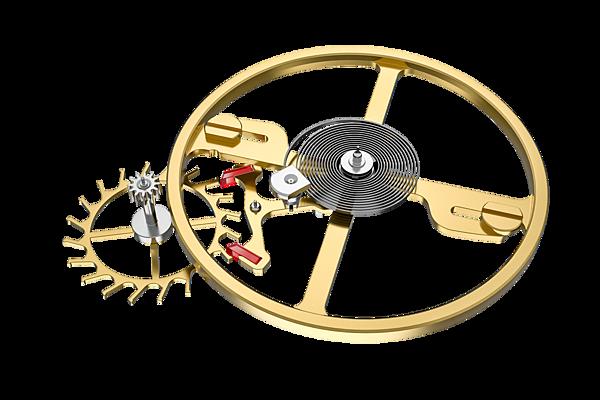 图7:天梭宝环系列腕表机芯采用矽材质
