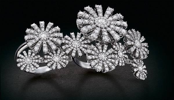 4.Margherita瑪格麗特系列白鑽戒指,建議售價:約NTD 1,330,000