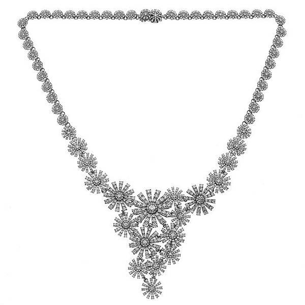 5.Margherita瑪格麗特系列白鑽項鍊,建議售價:約NTD 3,230,000