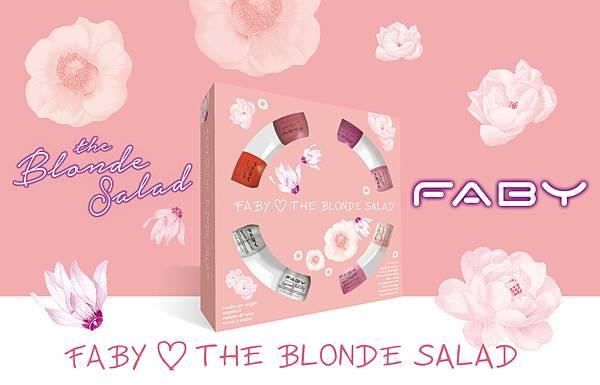義大利頂級指彩品牌FABY首度與Chiara Ferragni攜手合作,推出「FABY Loves The Blonde Salad」限量聯名迷你指彩組合