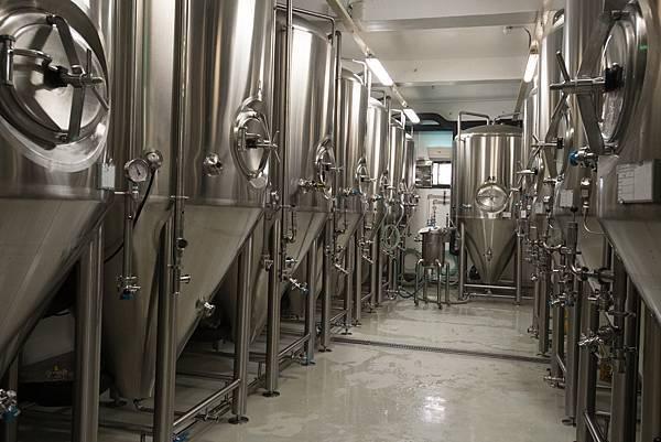 圖4.龍昇釀造酒廠每年預計可釀造約150萬公升啤酒,為全台精釀啤酒產量之冠