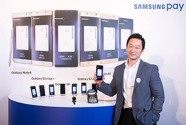 台灣三星電子總經理李載燁表示:「三星看好未來一年行動支付在台用戶將達百萬以上。」